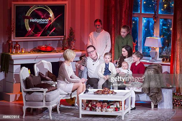 Angelo Kelly and his family attend the 'Heiligabend mit Carmen Nebel' TV show at Bavaria Filmstudios on November 26 2015 in Munich Germany