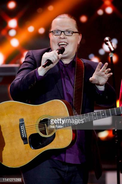 Angelo Kelly perfroms during the television show 'Willkommen bei Carmen Nebel' at Velodrom on May 4, 2019 in Berlin, Germany.