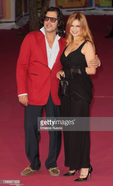 """Angelo Maresca and Debora Caprioglio attend the"""" 2011 Rome Fiction Fest"""" on September 25, 2011 in Rome, Italy."""