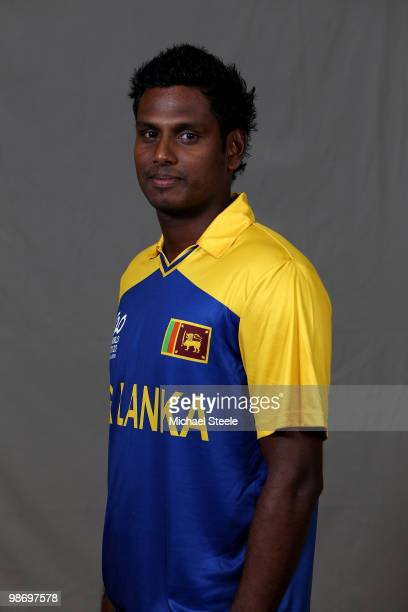 Angelo Mathews of the Sri Lanka T20 ICC World Cup squad on April 27 2010 in Bridgetown Barbados