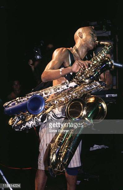 Angelo Moore of Fishbone during Fishbone in Concert at Limelight 1993 at Limelight in New York City New York United States