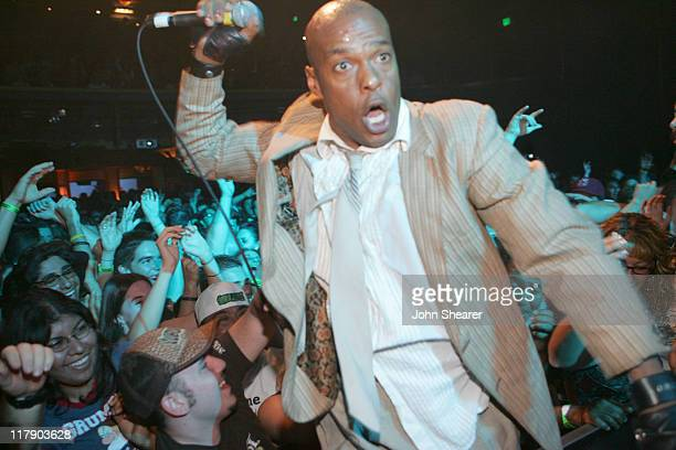 Angelo Moore of Fishbone during MusiCares Presents Sublime Tribute Concert at the Henry Fonda Theater in Hollywood October 24 2005 at Henry Fonda in...