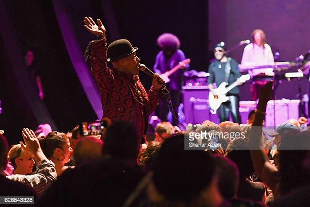 Angelo Moore of Fishbone performs at The Apollo Theater on November 26 2016 in New York City