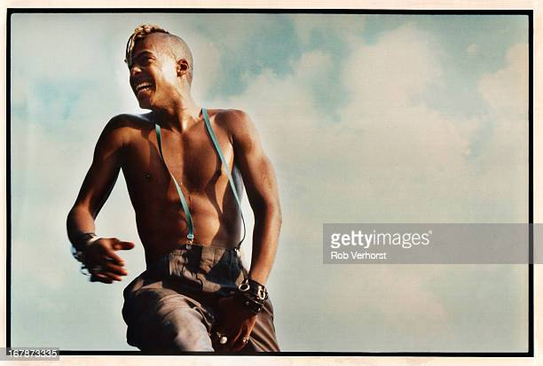 Angelo Moore of Fishbone performs on stage at Metropolis Festival Zuiderpark Rotterdam Netherlands 4th September 1988