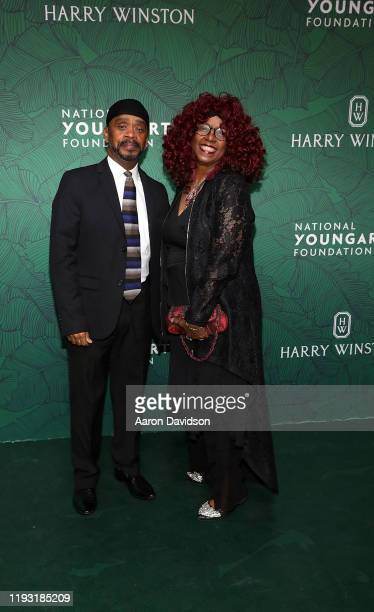 Angelo Morris and Betty Wright attend National YoungArts Foundation Backyard Ball Performance And Gala 2020 on January 11 2020 in Miami Florida