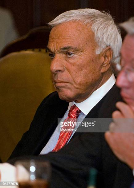 Angelo Mozilo chairman and chief executive officer of Countrywide Financial Corp listens during a meeting held by Treasury Secretary Henry Paulson...