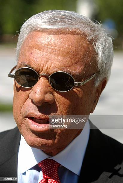 Angelo Mozilo chairman and chief executive officer of Countrywide Financial Corp leaves a meeting held by Treasury Secretary Henry Paulson with...