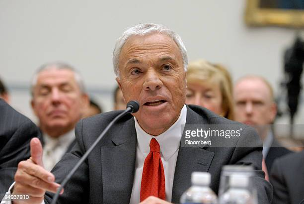 Angelo Mozilo chief executive officer of Countrywide Financial Corp testifies at a hearing of the House Oversight and Government Reform Committee on...