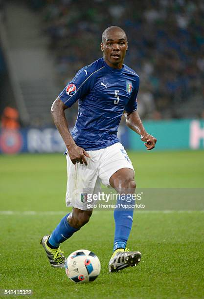Angelo Ogbonna in action for Italy during the UEFA EURO 2016 Group E match between Italy and Republic of Ireland at Stade PierreMauroy on June 22...