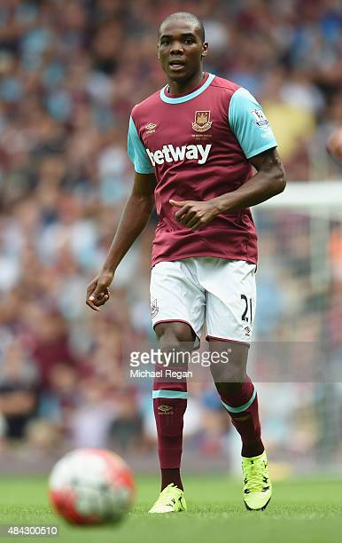 Angelo Ogbonna Obinze of West Ham in action during the Barclays Premier League match between West Ham United and Leicester City at the Boleyn Ground...