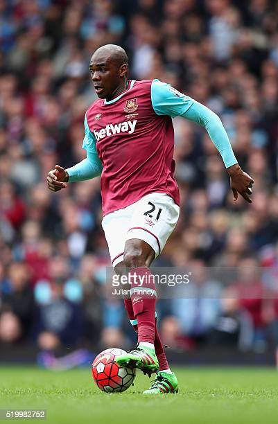 Angelo Ogbonna Obinze of West Ham United in action during the Barclays Premier League match between West Ham United and Arsenal at the Boleyn Ground...
