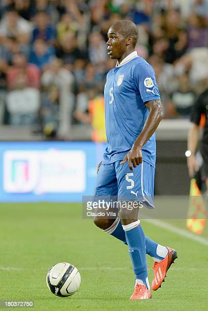 Angelo Ogbonna of Italy in action during the FIFA 2014 World Cup Qualifier group B match between Italy and Czech Republic at Juventus Arena on...