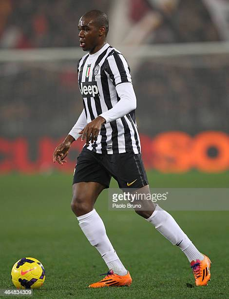 Angelo Ogbonna of Juventus FC in action during the TIM Cup match between AS Roma and Juventus FC at Olimpico Stadium on January 21 2014 in Rome Italy