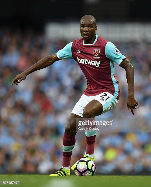 Angelo Ogbonna of West Ham during the Premier League match between Manchester City and West Ham at Etihad Stadium on August 28 2016 in Manchester...