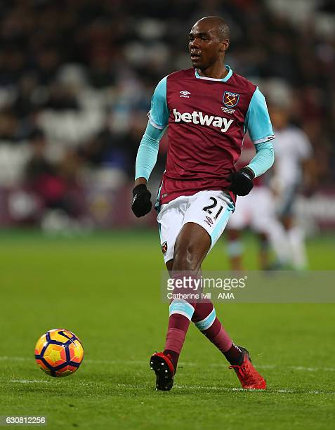 Angelo Ogbonna of West Ham during the Premier League match between West Ham United and Manchester United at London Stadium on January 2 2017 in...