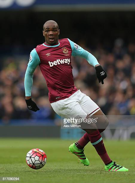 Angelo Ogbonna of West Ham United during the Barclays Premier League match between Chelsea and West Ham at Stamford Bridge on March 19 2016 in London...