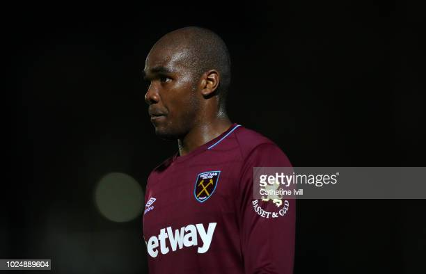 Angelo Ogbonna of West Ham United during the Carabao Cup Second Round match between AFC Wimbledon and West Ham United at The Cherry Red Records...