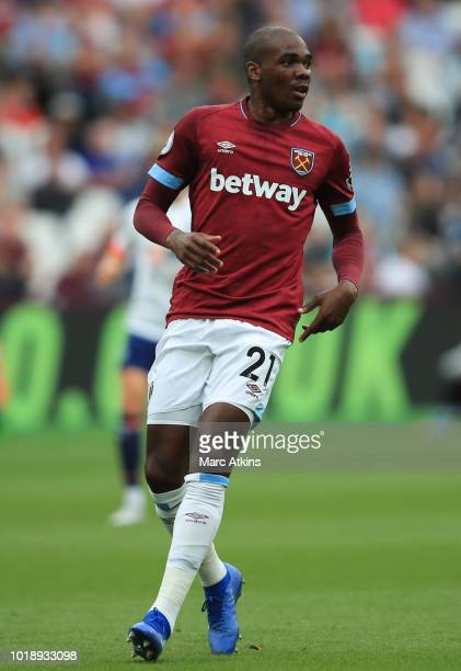 Angelo Ogbonna of West Ham United during the Premier League match between West Ham United and AFC Bournemouth at London Stadium on August 18 2018 in...