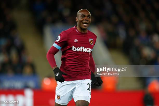 Angelo Ogbonna of West Ham United during the Premier League match between Leicester City and West Ham United at The King Power Stadium on October 27...