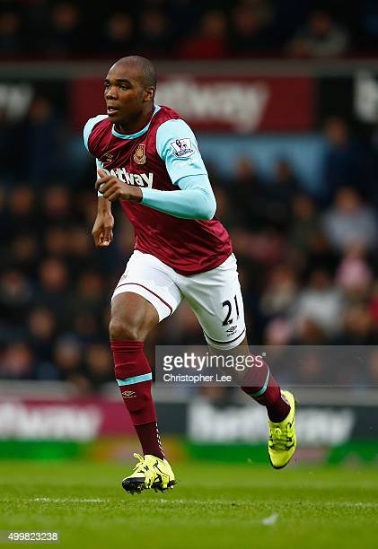 Angelo Ogbonna of West Ham United in action during the Barclays Premier League match between West Ham United and West Bromwich Albion at the Boleyn...