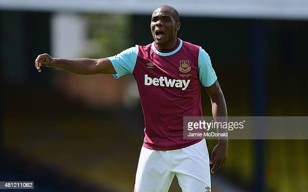 Angelo Ogbonna of West Ham United in action during the pre season friendly match between Southend United and West Ham United at Roots Hall on July 18...