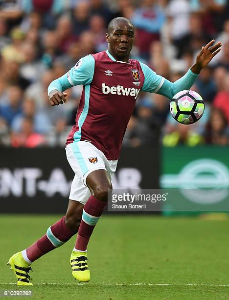 Angelo Ogbonna of West Ham United in action during the Premier League match between West Ham United and Southampton at London Stadium on September 25...