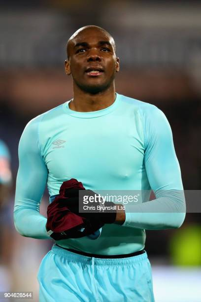 Angelo Ogbonna of West Ham United looks on after the Premier League match between Huddersfield Town and West Ham United at John Smith's Stadium on...