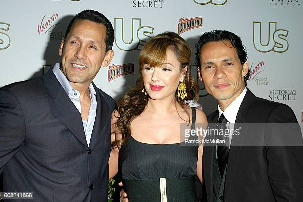 Angelo Pagan, Leah Remini and Marc Anthony attend US Weekly Presents US' Hot Hollywood 2007 at Sugar on April 26, 2007 in Hollywood, CA.
