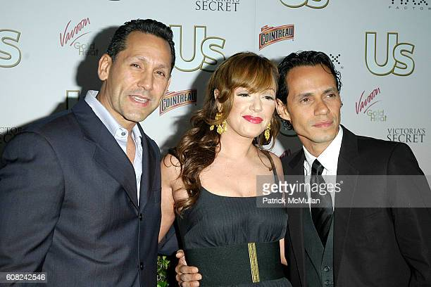 Angelo Pagan Leah Remini and Marc Anthony attend US Weekly Presents US' Hot Hollywood 2007 at Sugar on April 26 2007 in Hollywood CA