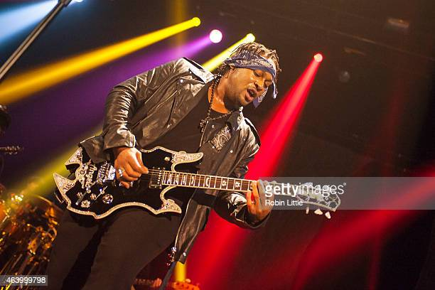 Angelo performs on stage at Eventim Apollo on February 20 2015 in London United Kingdom