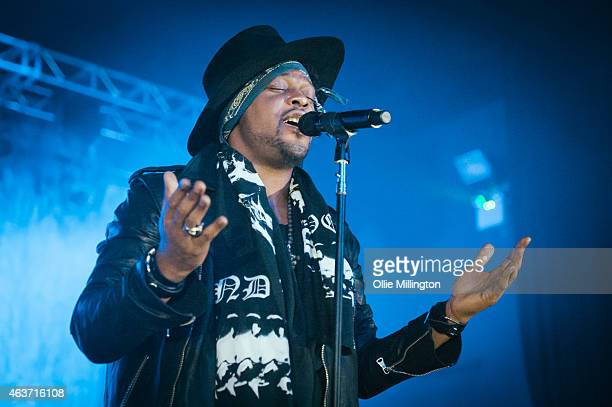 Angelo performs on stage at O2 Academy Birmingham on February 17 2015 in Birmingham United Kingdom
