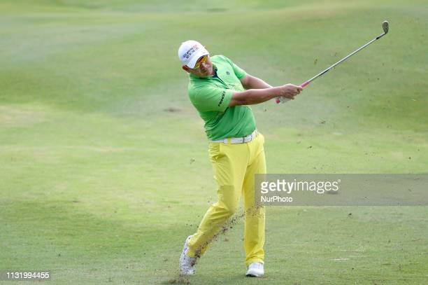 Angelo Que of Philippines in action during Day Two of the Maybank Championship at Saujana Golf and Country Club on March 22 2019 in Kuala Lumpur...