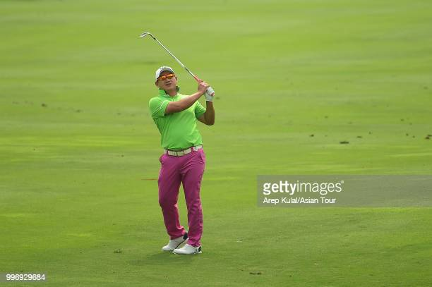 Angelo Que of Philippines pictured during the first round of the Bank BRI Indonesia Open at Pondok Indah Golf Course on July 12 2018 in Jakarta...