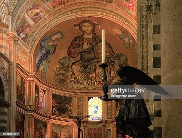 Angelo reggicandela e San Giovanni di Cimabue Engel interior of the Cathedral Santa Maria Assunta Pisa Tuscany Italy Pisa Tuscany Italy