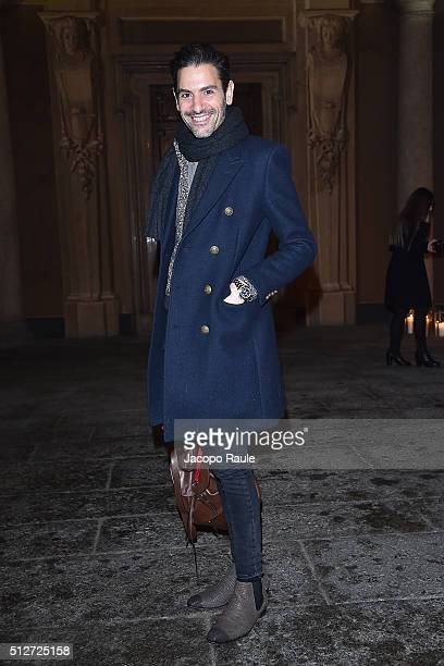 Angelo Ruggeri attends Vogue Cocktail Party honoring photographer Mario Testino on February 27 2016 in Milan Italy