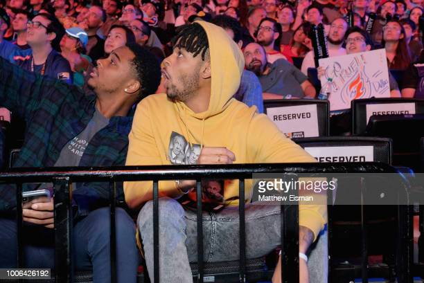 Angelo Russell and Antonio Russell attend Overwatch League Grand Finals Day 1 at Barclays Center on July 27 2018 in New York City