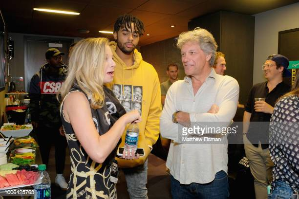 Angelo Russell and Jon Bon Jovi attends Overwatch League Grand Finals Day 1 at Barclays Center on July 27 2018 in New York City