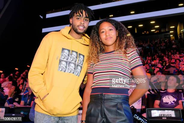 Angelo Russell and Naomi Osaka attend Overwatch League Grand Finals Day 1 at Barclays Center on July 27 2018 in New York City