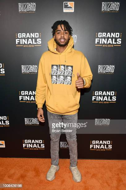 Angelo Russell attends Overwatch League Grand Finals Day 1 at Barclays Center on July 27 2018 in New York City