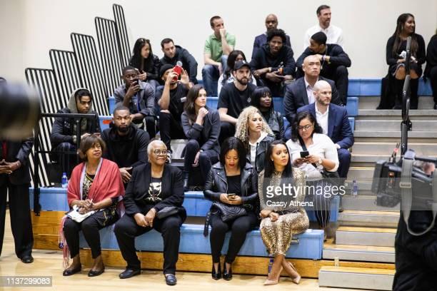 D'Angelo Russell Caris LeVert Shabazz Napier Joe Harris Ed Davis Spencer Dinwiddie of The Brooklyn Nets and Angela Simmons attend Allen Crabbe's...