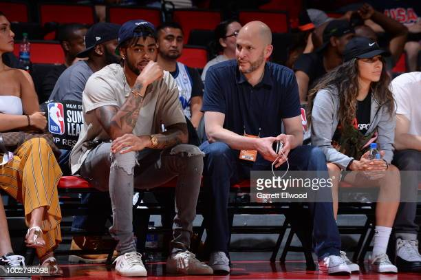 Angelo Russell enjoys the game between the the Denver Nuggets and the Minnesota Timberwolves during the 2018 Las Vegas Summer League on July 6 2018...