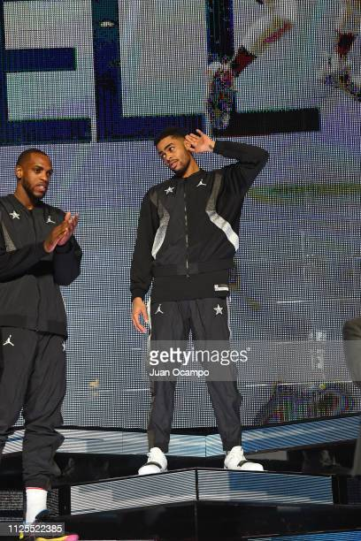 Angelo Russell of Team Giannis is introduced to the crowd before the 2019 NBA AllStar Game on February 17 2019 at Spectrum Center in Charlotte North...