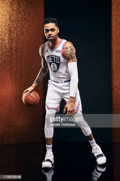Angelo Russell of Team Giannis poses for a portrait before the 2019 NBA AllStar game on February 17 2019 at the Spectrum Center in Charlotte North...