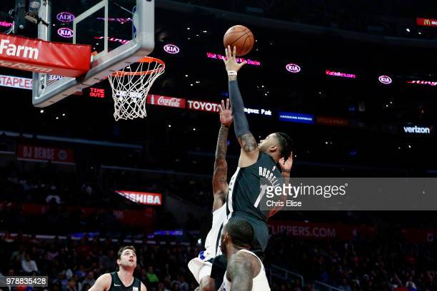 Angelo Russell of the Brooklyn Nets goes to the basket against the LA Clippers on March 4 2018 at STAPLES Center in Los Angeles California NOTE TO...