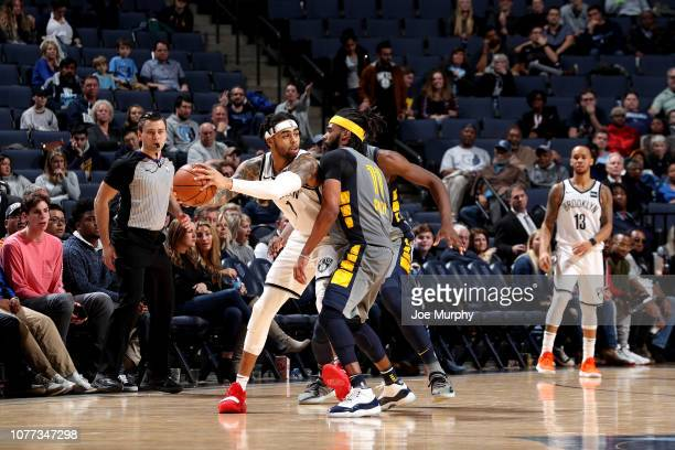 Angelo Russell of the Brooklyn Nets handles the ball against the Memphis Grizzlies on January 4 2019 at FedExForum in Memphis Tennessee NOTE TO USER...