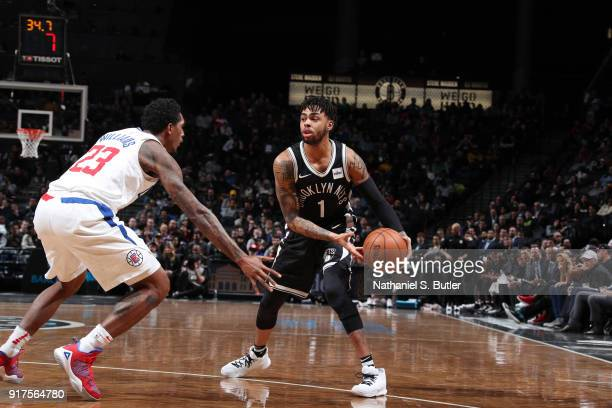 Angelo Russell of the Brooklyn Nets handles the ball against the LA Clippers on February 12 2018 at Barclays Center in Brooklyn New York NOTE TO USER...