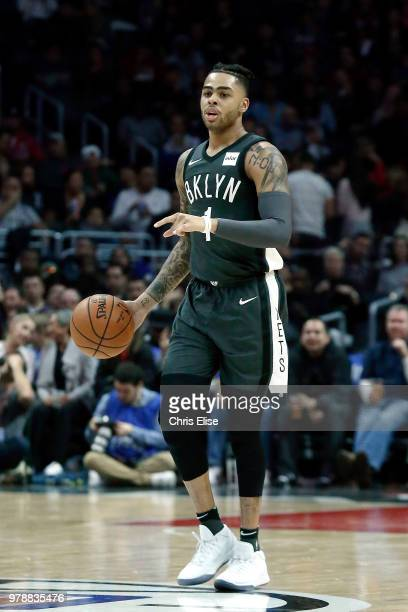 Angelo Russell of the Brooklyn Nets handles the ball against the LA Clippers on March 4 2018 at STAPLES Center in Los Angeles California NOTE TO USER...