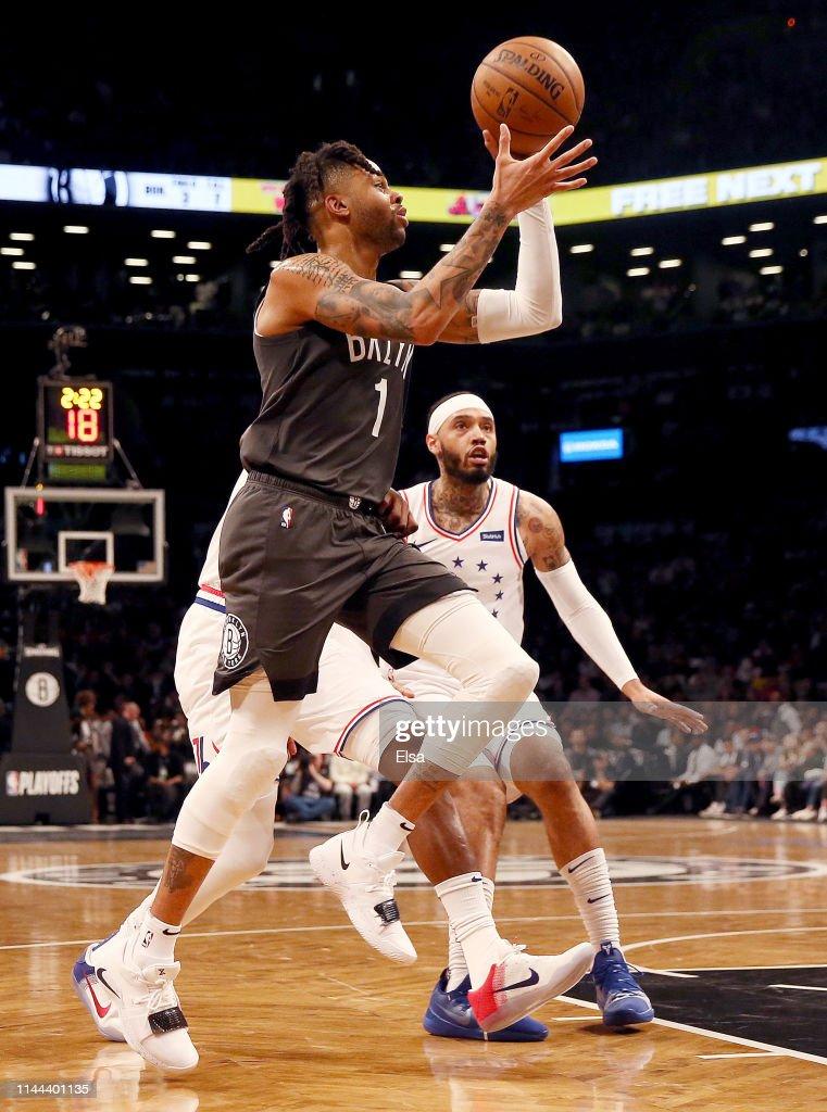 Philadelphia 76ers v Brooklyn Nets - Game Four : Foto jornalística
