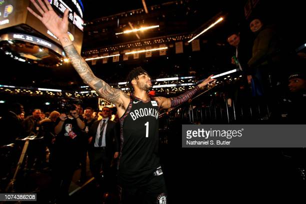Angelo Russell of the Brooklyn Nets is seen leaving after the game against the Los Angeles Lakers on December 18 2018 at Barclays Center in Brooklyn...