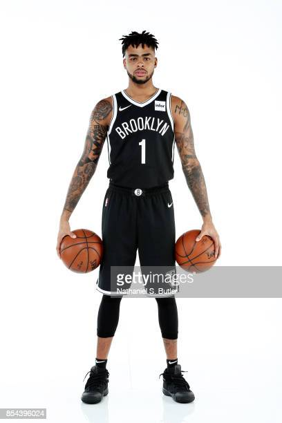 Angelo Russell of the Brooklyn Nets poses for a portrait during the 20172018 Brooklyn Nets Media Day at the Hospital for Special Surgery Training...